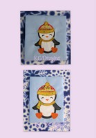 Jolly Boy Penguin With Snow Hat Applique