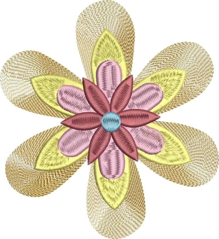 Vintage Flower Head 04 Embroidery