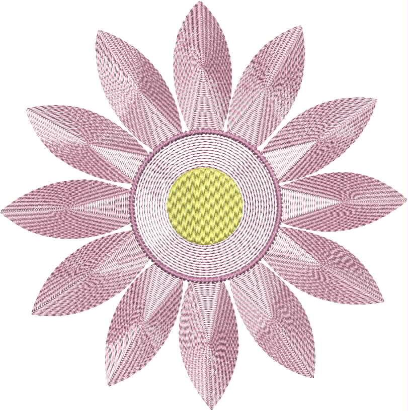 Vintage Flower Head 05 Embroidery