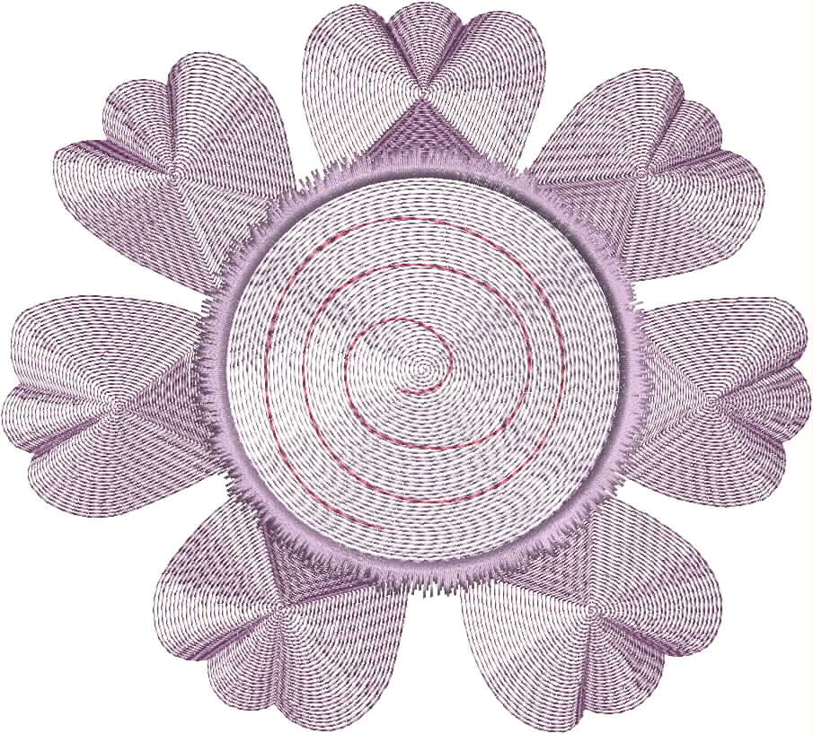 Vintage Flower Head 06 Embroidery