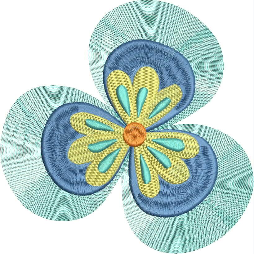 Vintage Flower Head 08 Embroidery