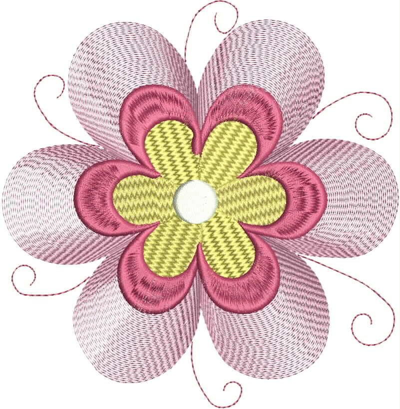 Vintage Flower Head 10 Embroidery