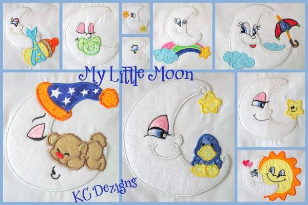 My Little Moon 1-10 Applique