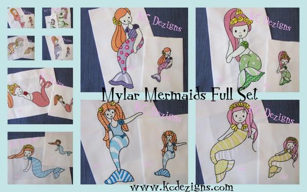 Mylar Mermaid Full Set Embroidery
