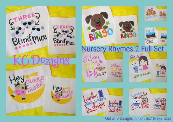 Nursery Rhyme 2 Full Set Embroidery