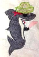 Pirate Shark Applique