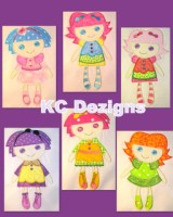 #420 Ragdolls 1-6 Applique