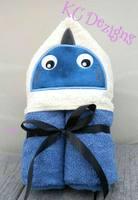 Shark Hooded Towel Applique