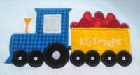 Train and Cart With Hearts Applique