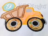 Construction Truck No 9 Applique