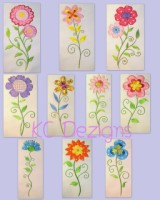 #516 Vintage Flowers Applique - Set