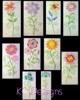 #517 Vintage Flowers Filled - Set